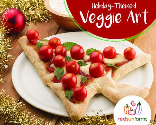 Holiday-Themed Veggie Art