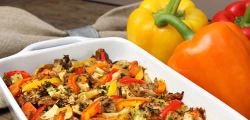 Roasted Red Pepper Stuffing
