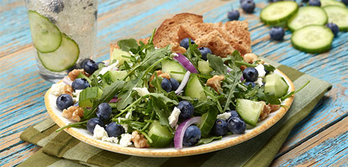 Cucumber Blueberry Salad