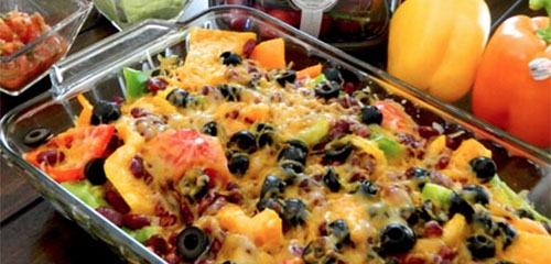 Sweet Bell Pepper Nachos